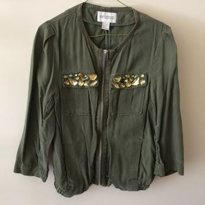 Forest green jacket with jewels